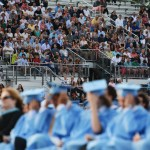 parents watch as their sons and daughters graduate. Photo by Drake Woods