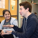 Junior Luke Bledsoe talks with his friends during class. Photo by Luke Hoffman