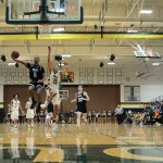 On a fastbreak, Senior Kelyn Bolton takes flight on the layup. Photo by Ty Browning