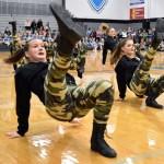 Sophomore Hattie Harden performs in the  JV Lancer Dancer hip-hop routine. Photo by Lucy Morantz