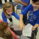 Briarwood Bulldogs learn how to correctly recycle. Photo by Kathleen Deedy.