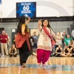 Co-founders of the Bollywood dance club, Seniors Aakriti Chaturvedi and Anika Radadiya perform their dance. Photo by Annakate Dilks