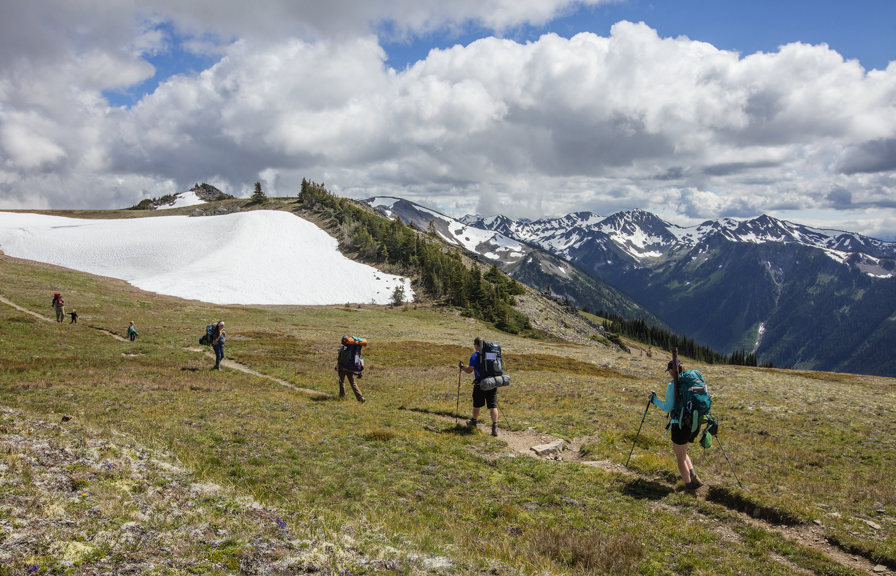 """Just like any sport there is inherent risk to hiking, but there's definitely things you can do to mitigate those risks,"" says Kindra Ramos, director of communications at the Washington Trails Association (WTA). Ramos' words are worth considering if, like the hikers pictured above in Olympic National Park, you're drawn to outdoor adventures. (Steve Ringman / Seattle Times/TNS) OUTS: SEATTLE OUT, USA TODAY OUT, MAGAZINES OUT, TELEVISION OUT, SALES OUT. MANDATORY CREDIT TO: STEVE RINGMAN / THE SEATTLE TIMES."