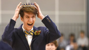 Gallery: Boys Varsity Basketball vs. Olathe East with Sweetheart Crowning
