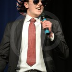 Senior Tom Joyce sings Everybody Talks by Neon Trees during his performance. Photo by Reilly Moreland