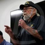 Vietnam War Veteran Richard Sobek answers a students question. Photo by Trevor Paulus
