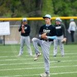 Hayden Talge prepares to throw the ball to a teammate. Photo by Austin Housley.