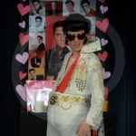 """Senior Luke Knopke plays Elvis in """"Life After Elvis"""". This was a moment where he was dancing to impersonate Elvis. Photo by Elle Karras"""