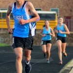 Sophomore Jackson Mills runs the two mile race.  Photo by Evelyn Roesner