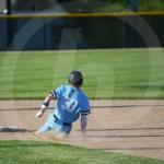 Senior Leo Stone slides into 2nd base. Photo by Austin Housley