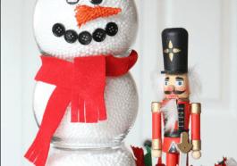 Снеговик из ваз