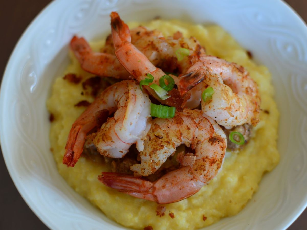 Cajun Shrimp and Italian Grits (Polenta)