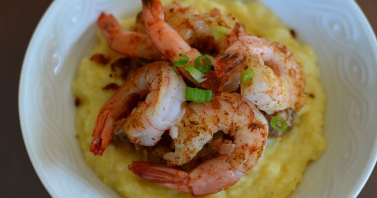 Cajun Inspired Shrimp and Italian Grits (Polenta)