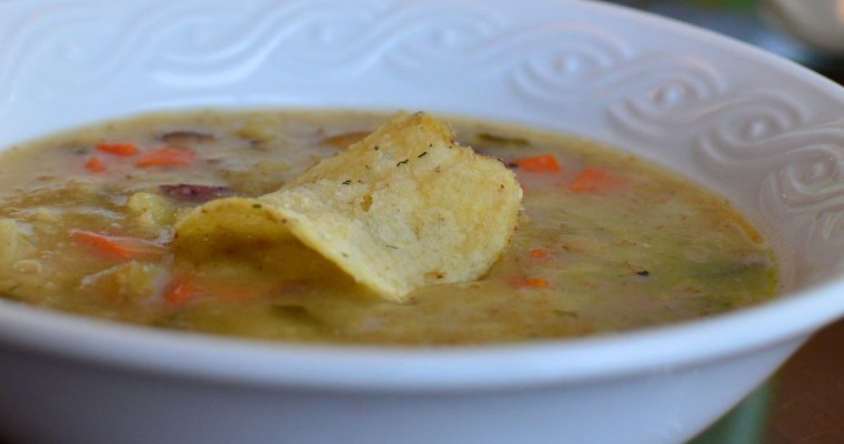 Dill Pickle Potato Chip Soup