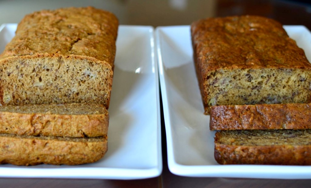 Comparison of 2 Banana Bread recipes