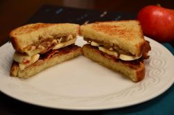 Peanut Butter Spiced Banana Bacon Brioche Sandwich