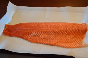 Steelhead Trout raw filleted and unseasoned