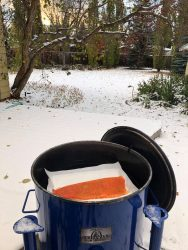 Cooking steelhead fish in cold weather temperatures