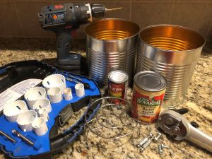Materials for DIY Tin Can Smoker