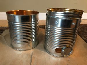 DIY Tin Can Smoker with inner ring attached