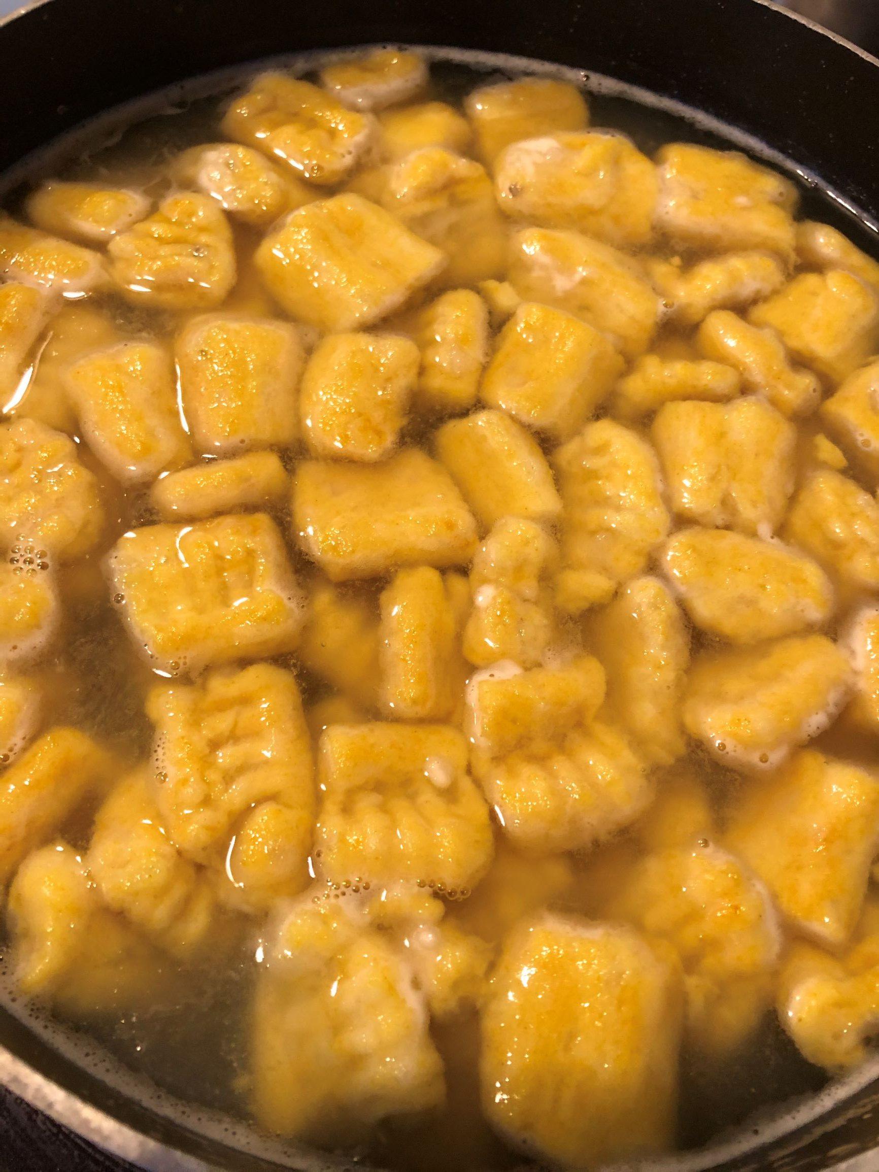 Gnocchi - Boiled gnocchi