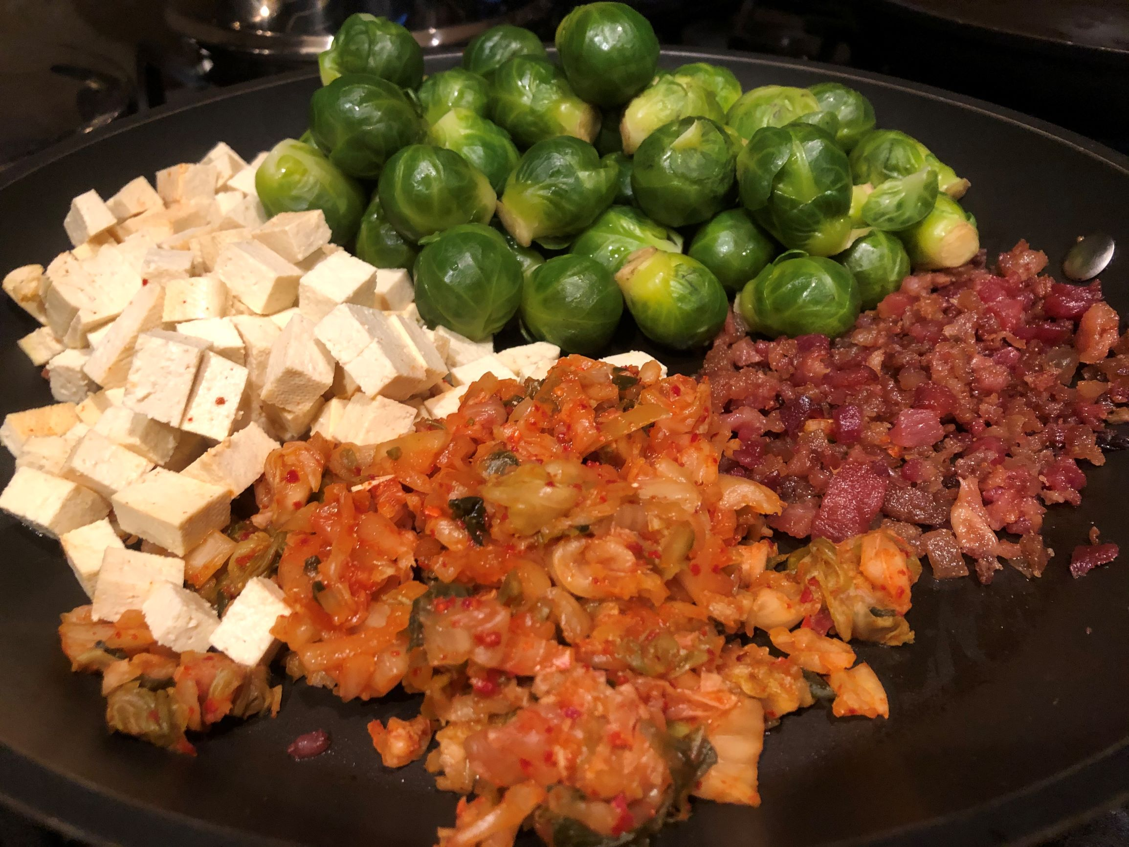 Components of Korean Inspired Brussel Sprouts