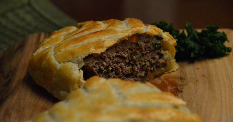 Cut profile of Mince or Ground Meat Wellington