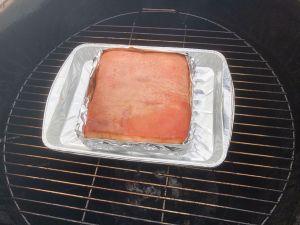 Siu Yuk Preparation - Ready to braise pork belly in new foil sling