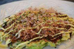 Osaka Style Okonomiyaki - Japanese Pizza Pancake