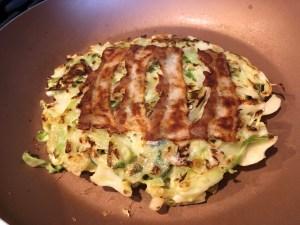 Okonomiyaki Pork Belly Cooked