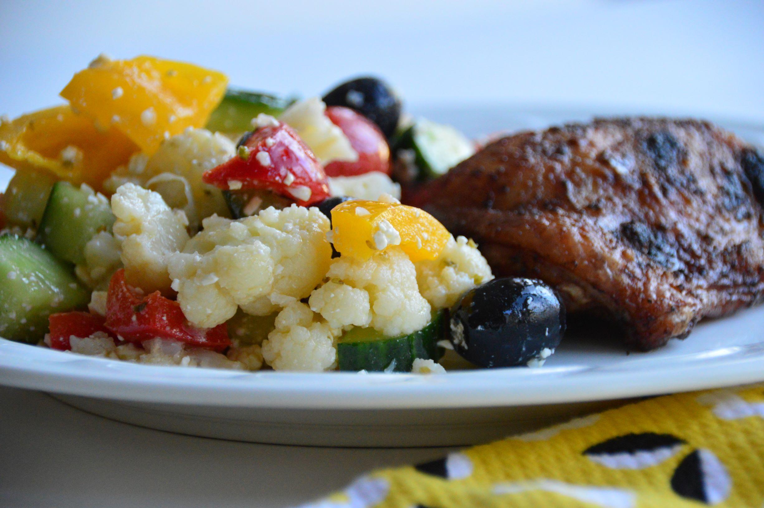 Cauliflower Greek Salad