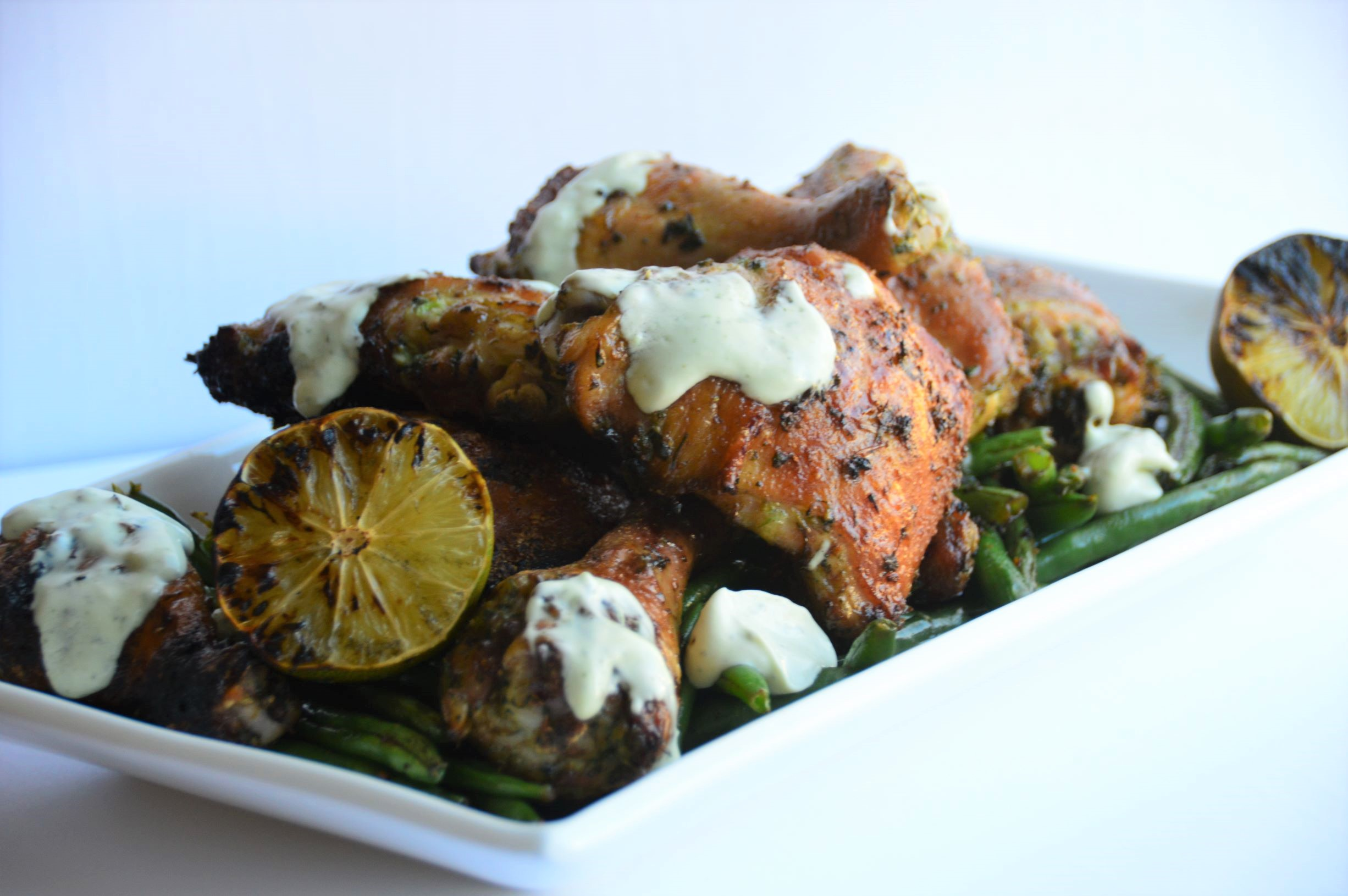 Thai Grilled Chicken with Lime & Avocado Basil  Sauce