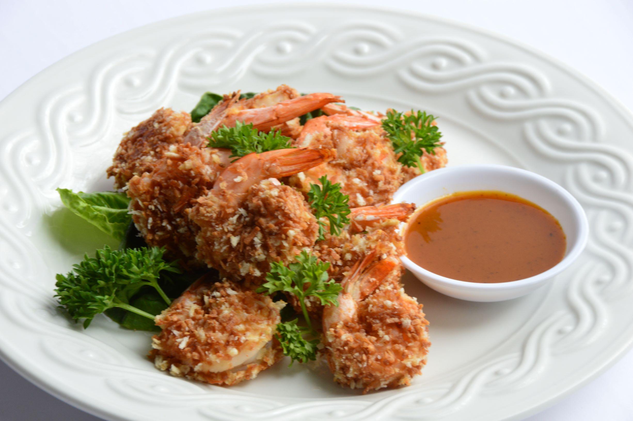 Coconut Shrimp & Sweet Mustard Dipping Sauce