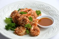Baked Coconut Shrimp with Sweet Mustard Zing