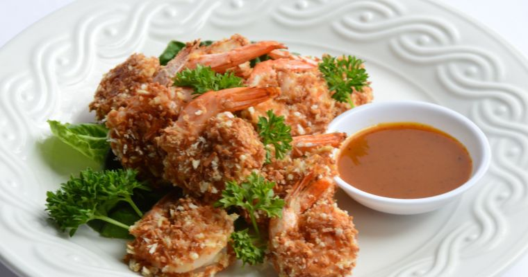 Coconut Shrimp & Sweet Mustard Dipping Sauce