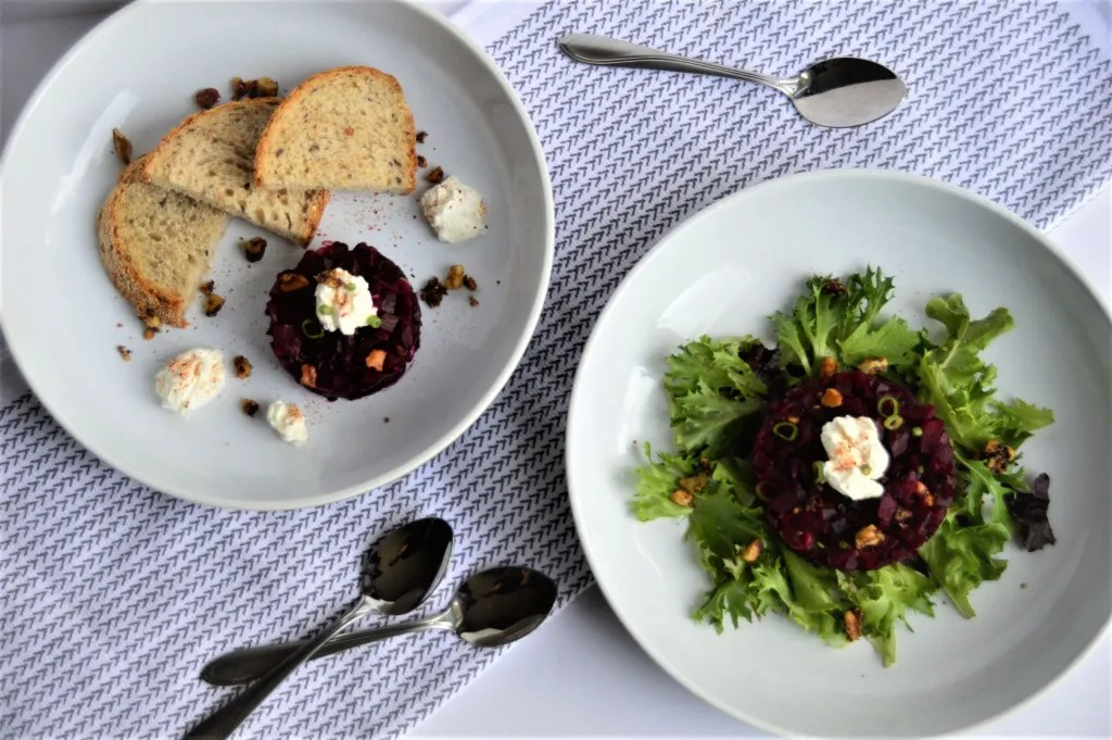Beet Tartare as Salad and Spread