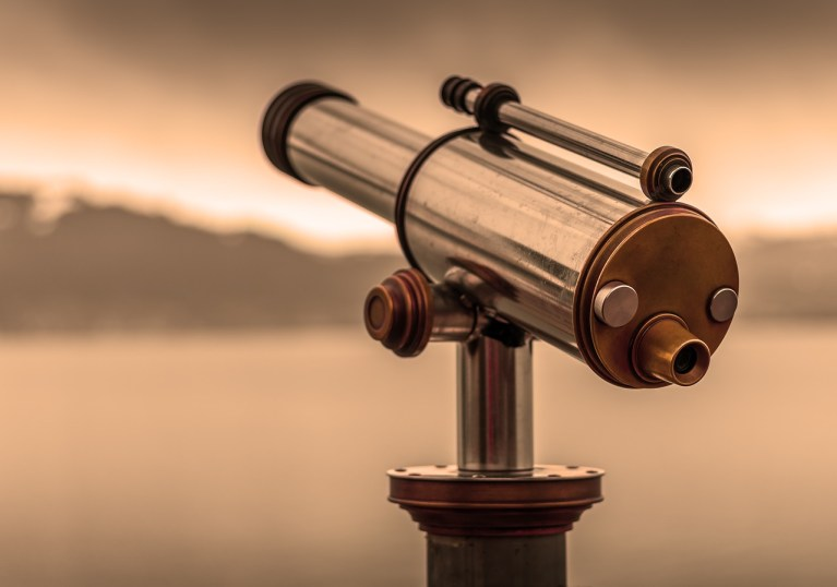 Telescope depicting business future relevance