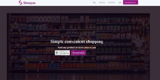 Shoopas website screenshot - Shoopas