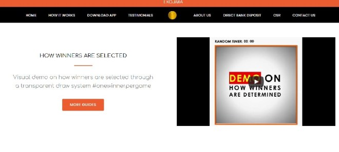 Ekpjara website screenshot - Ekojara