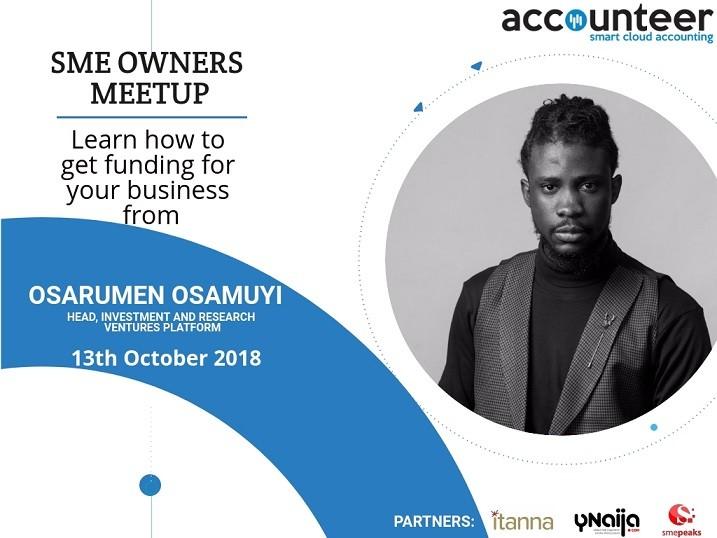 Osarumen Osamuyi - Acounteer SME facilitator Pic, Smepeaks.com