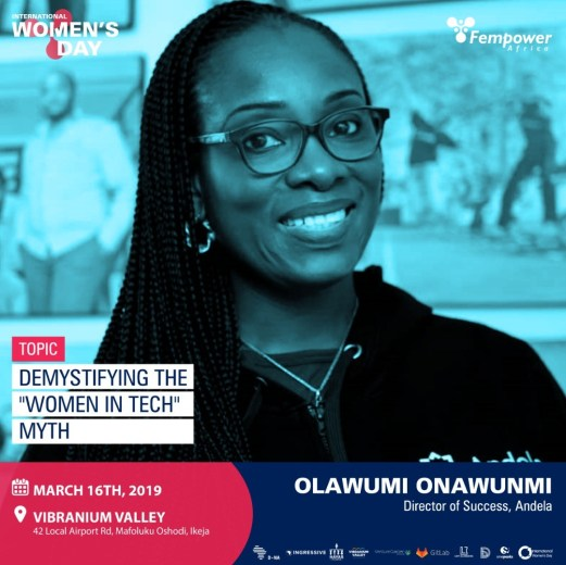 Olawumi Onawuni, Andela - One of Fempower IWD Event Speakers
