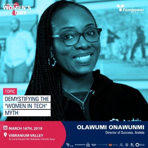 Olawumi Onawuni, Andela - One of Fempower IWD Event Speakers