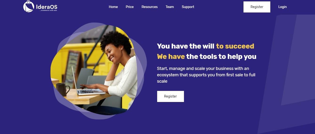 IderaOs homepage screenshot