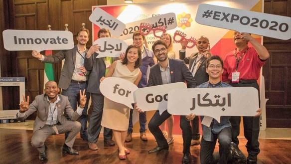 Expo 2020 Dubai picture shot of participants