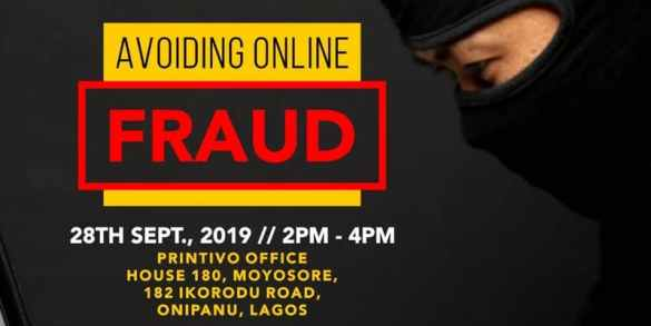 seclot 3rd leg training is on avoiding online fraud - flyer