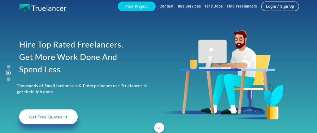 Truelancer - screenshot - one of the top freelancing platforms