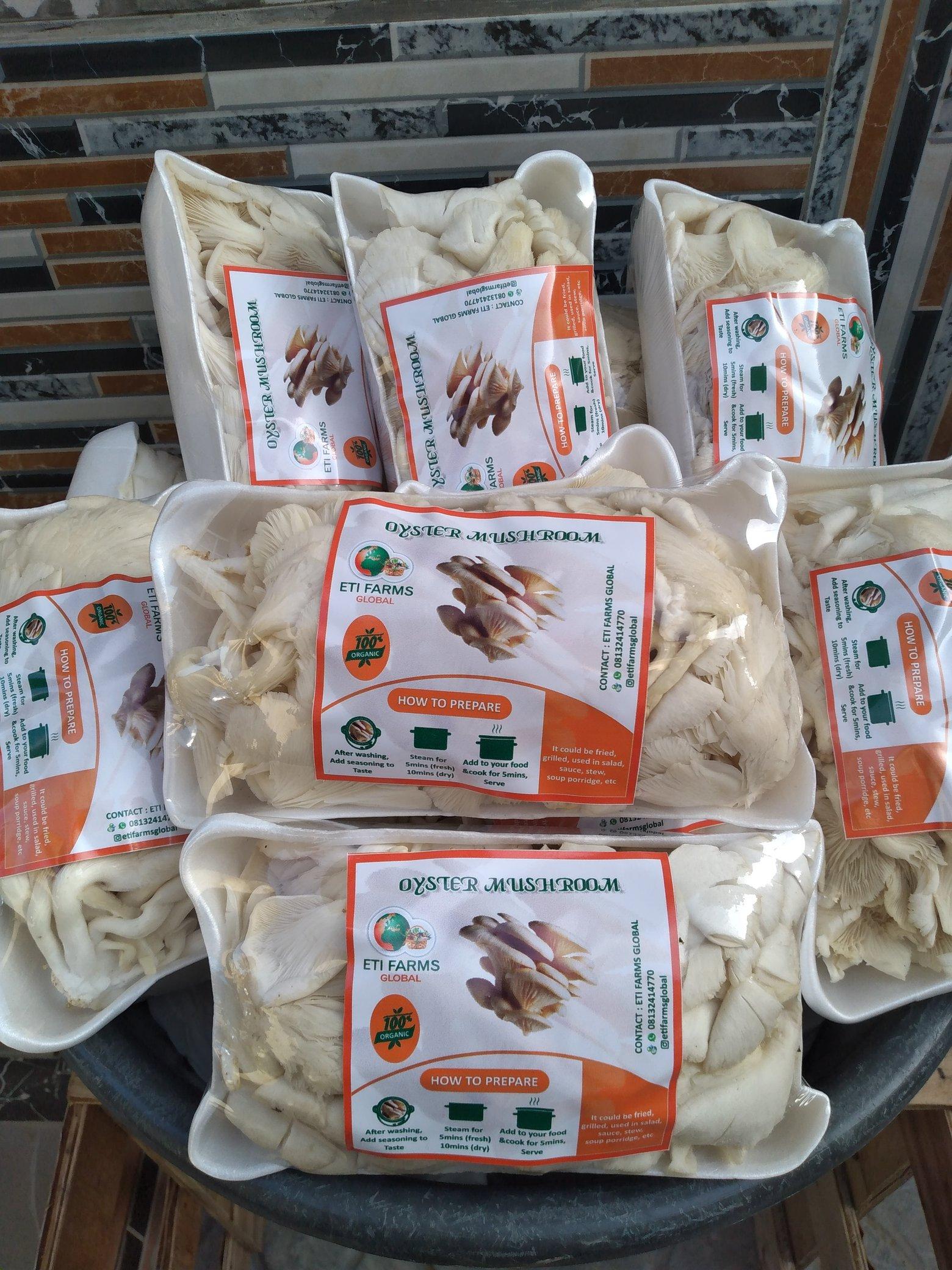 Eti mushroom farming