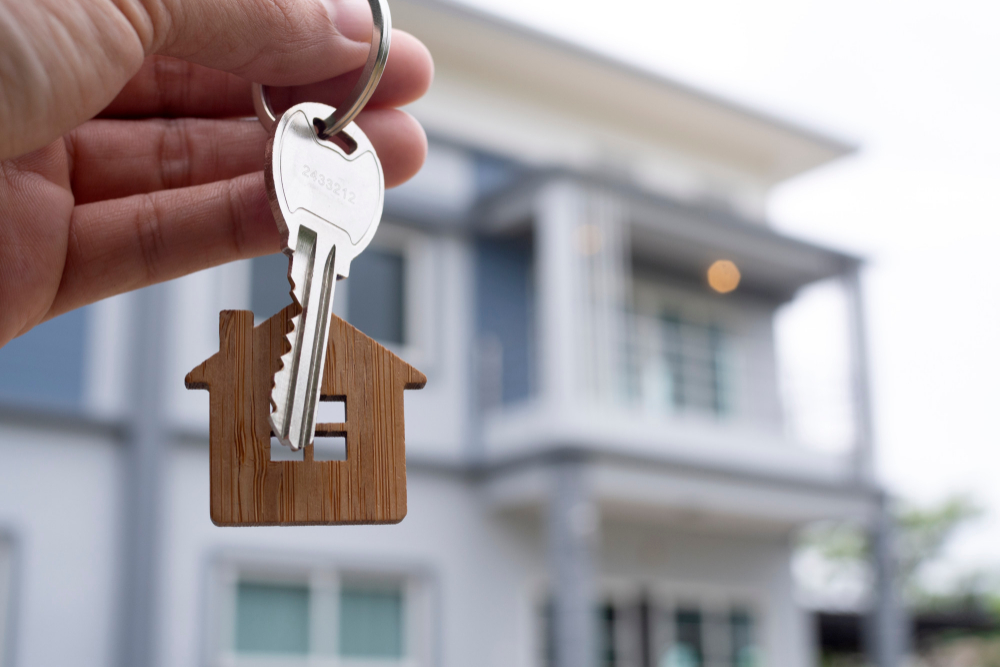 OPOD - key to home in focus