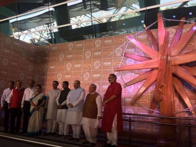 World's Biggest Charkha Showcased at Delhi Airport