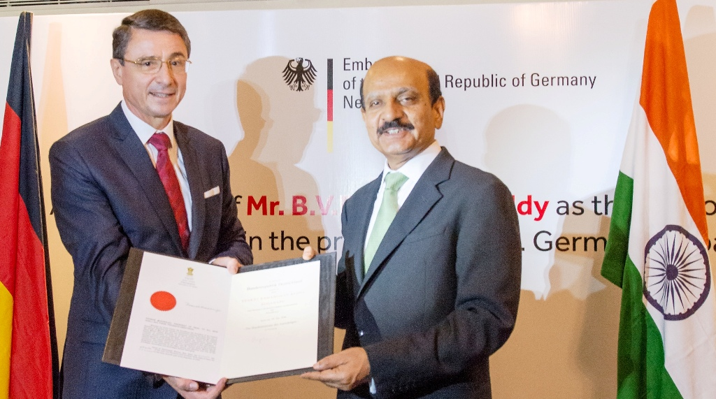 BVR Mohan Reddy Appointed as Honorary Consul for Federal Republic of Germany